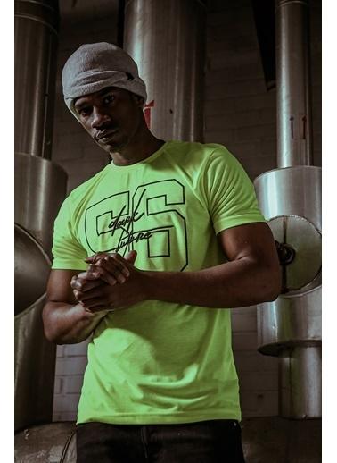 XHAN Yeşil Naskışlı & Baskılı T-Shirt 1Kxe1-44598-08 Yeşil